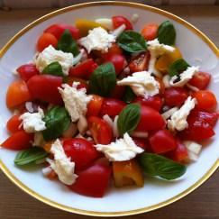 Tomatsalat til bufet eller grillfest