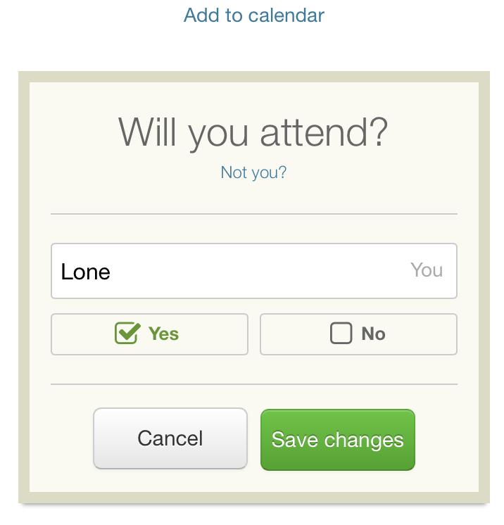 Så kan din gæst svare og gemme aftalen i sin kalender.