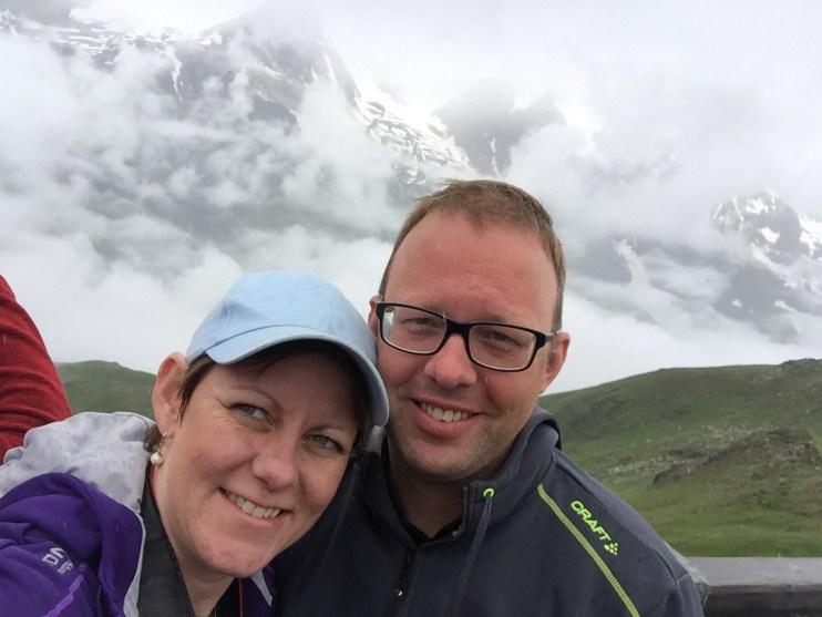 Gemalen og jeg på en bjergtop i Østrig