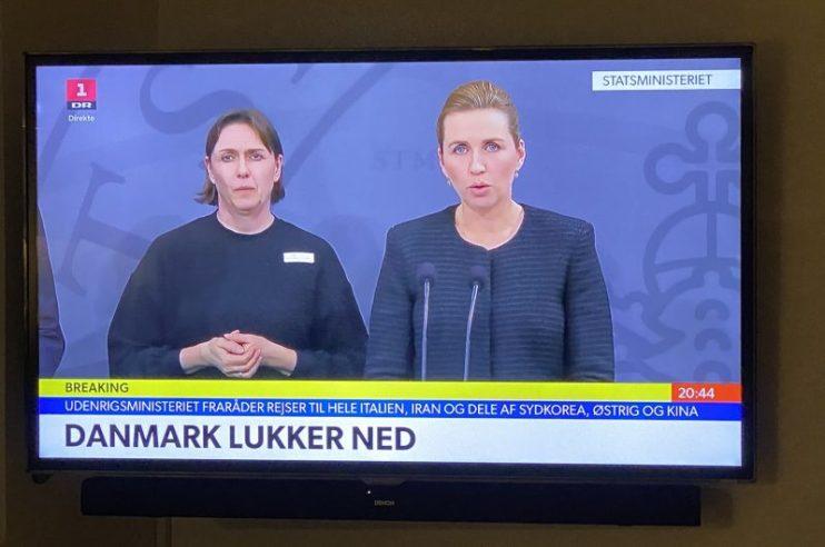Danmark lukker ned
