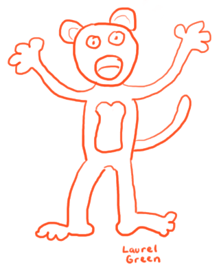 an ugly doodle of a moneky