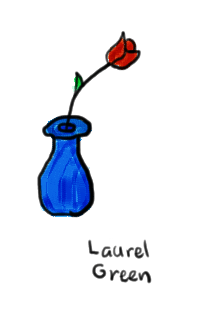 a drawing of a vase with a rose in it