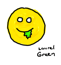 a drawing of a smiley face with goo dripping from its mouth