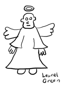 a horrible drawing of an ugly angel