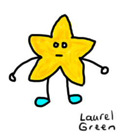 a drawing of a star with arms and legs