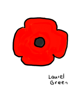 a drawing of a red poppy