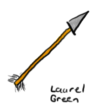 a drawing of an arrow