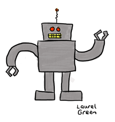 a drawing of a robot