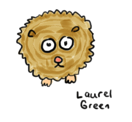 a drawing of a hamster