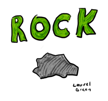 a drawing of a rock