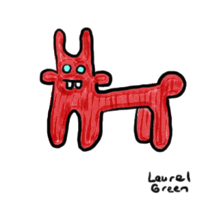 a drawing of a quadrupedal derp