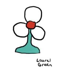a drawing of a fan