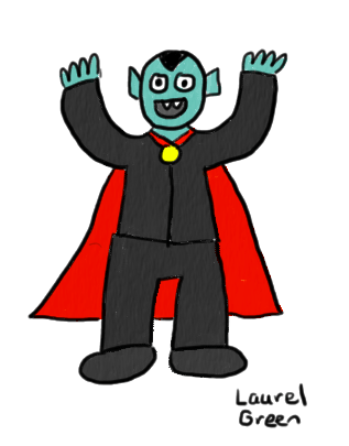 a drawing of dracula