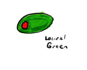 a drawing of an olive