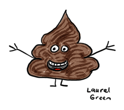 a drawing of a poo with a happy face