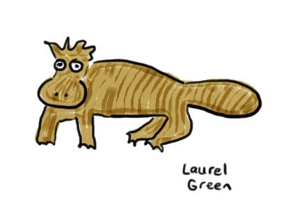 a badly drawn platypus
