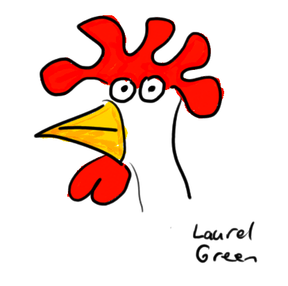 a drawing of a chicken