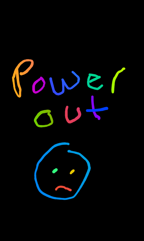 a sad drawing made on a cellphone.