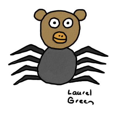 a drawing of a spidermonkey