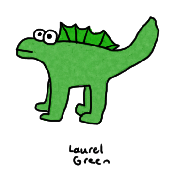 a badly-drawn dinosaur
