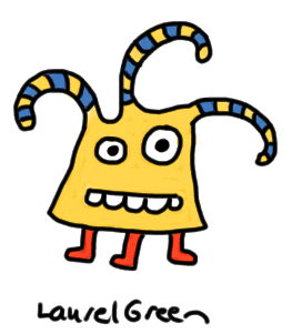 a drawing of a creature with three tentacles and three legs