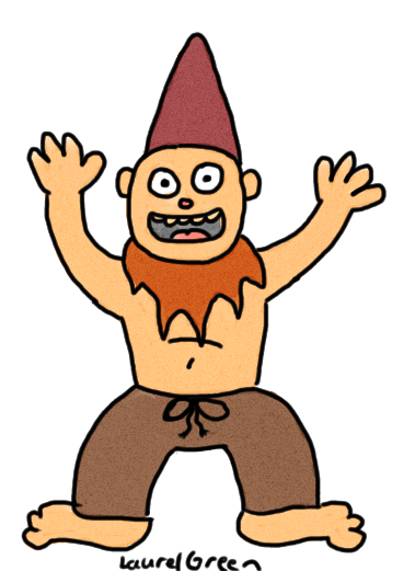 a drawing of a disgusting transient gnome