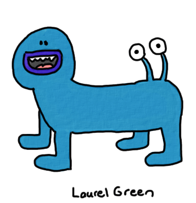 a drawing of a critter with eyes growing out of its butt