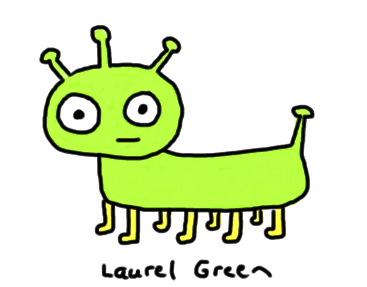 a drawing of an alien pet