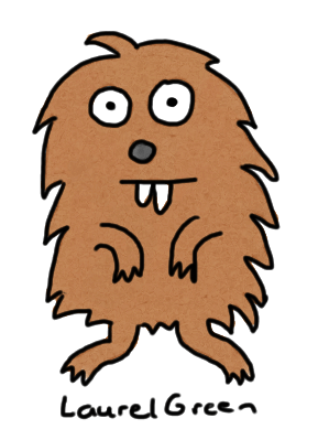 a drawing of a woodchuck
