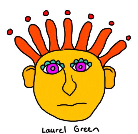 a drawing of a weird head