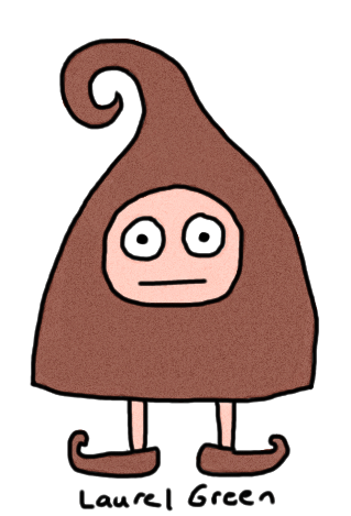 a drawing of a little dude wearing a costume shaped like a poo