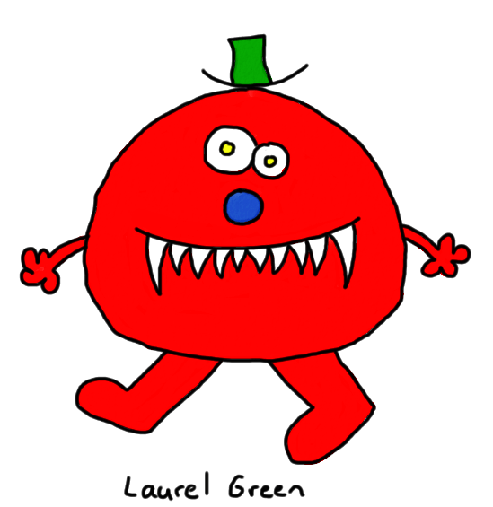 a drawing of a murderous member of the mr. men