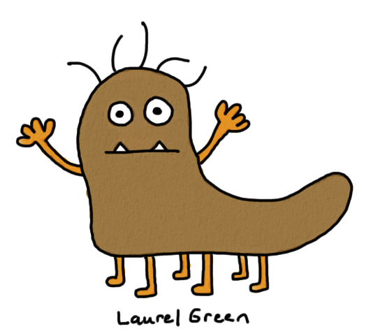 a drawing of a stinky creature
