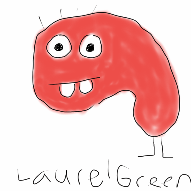 A drawing of a crappy cellphone kidney, I think