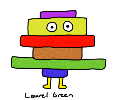 a drawing of a guy made out of rectangles