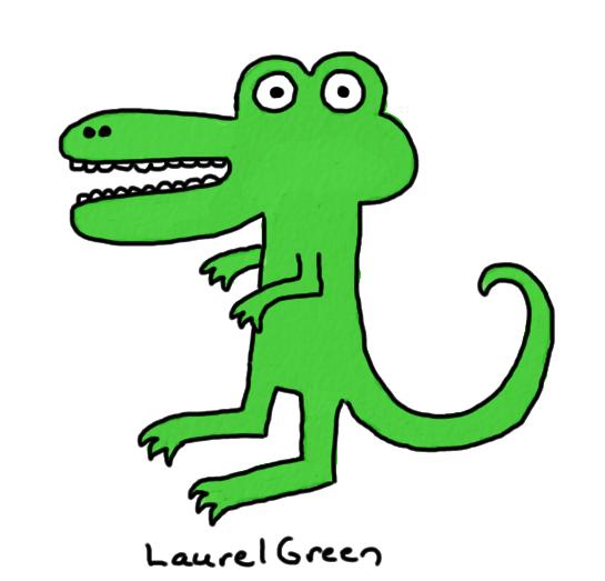 a badly-drawn crocodile
