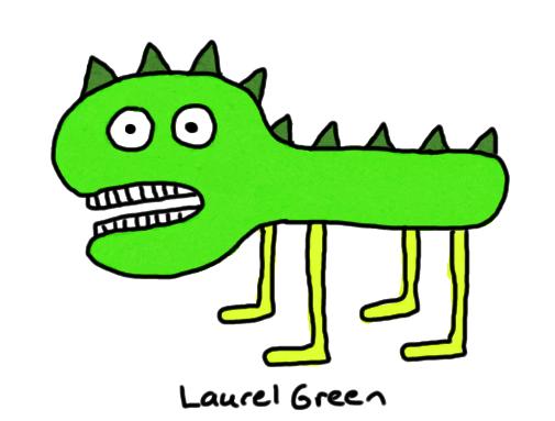 a poorly-drawn dinosaur