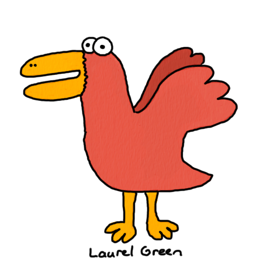 a drawing of a derpy-looking bird