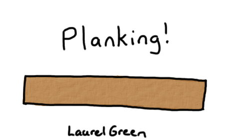 a drawing of a wooden plank