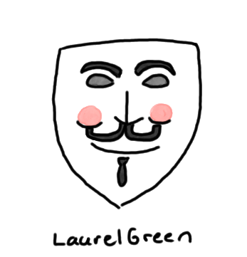 a drawing of a guy fawkes mask