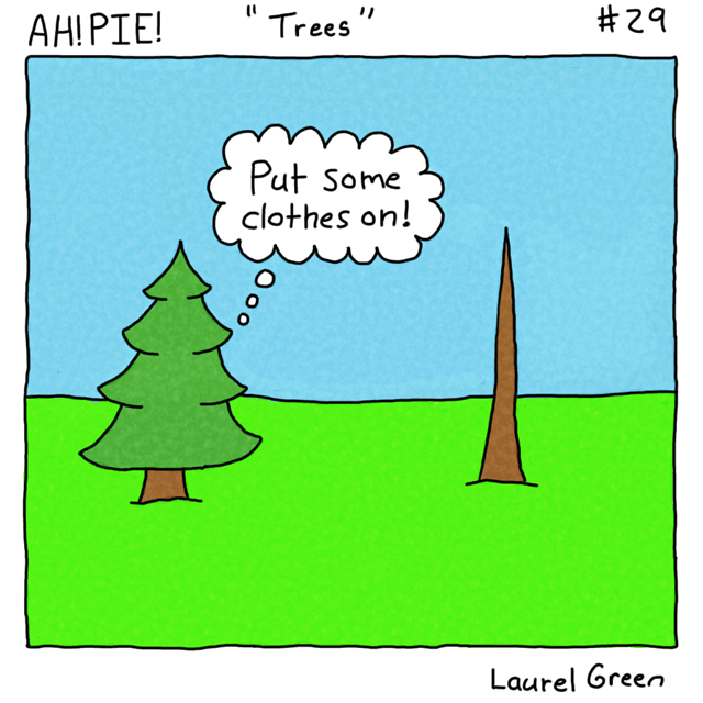 a comic about a naked tree