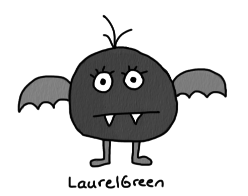 a drawing of a bat-like creature