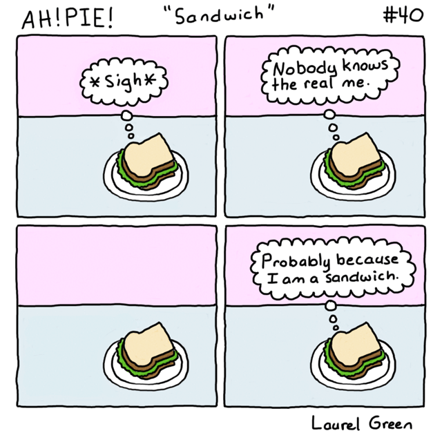 a comic about a sandwich
