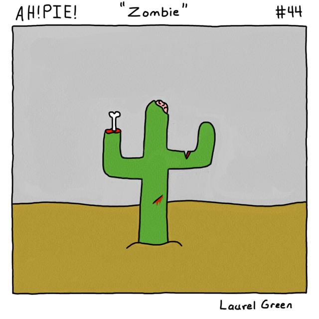 a comic about an undead cactus