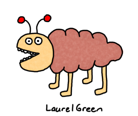 a drawing of a lumpy brown creature
