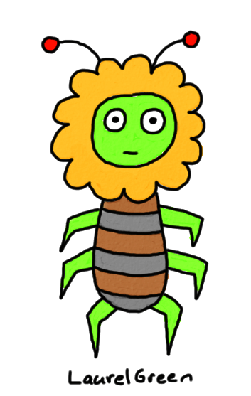 a drawing of a critter that is part lion and part bug