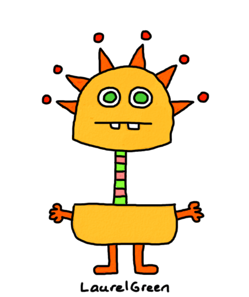 a drawing of a sunny guy