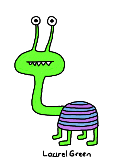 a drawing of a striped quadrupedal animal