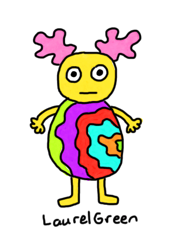 a drawing of a tie dye guy