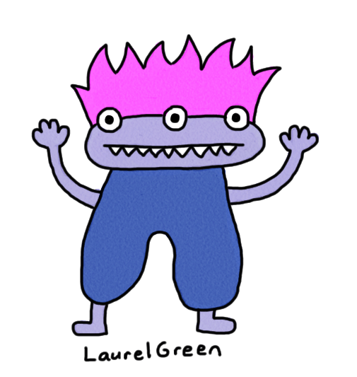 a drawing of a cute monster